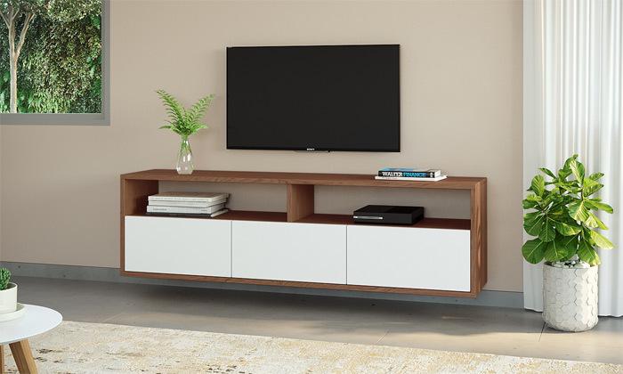 4 סט מזנון טלוויזיה ושולחן סלון
