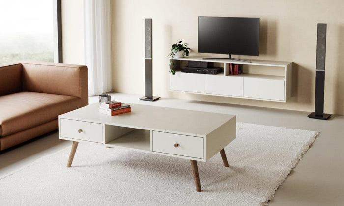 2 סט מזנון טלוויזיה ושולחן סלון