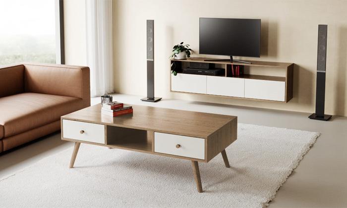 21 סט מזנון טלוויזיה ושולחן סלון