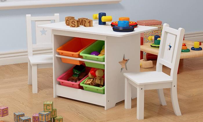 2 סט שולחן עם 2 כיסאות לחדר ילדים