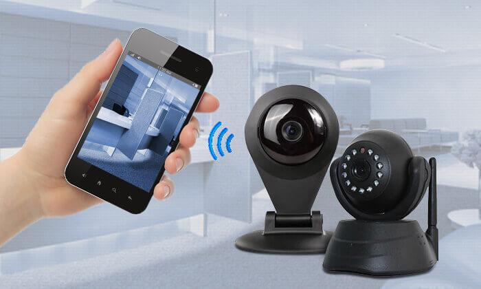2 מצלמת אבטחה IP עם התראות למייל או לסמארטפון