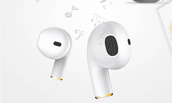 4 אוזניותבלוטות' דקות בצבע לבן