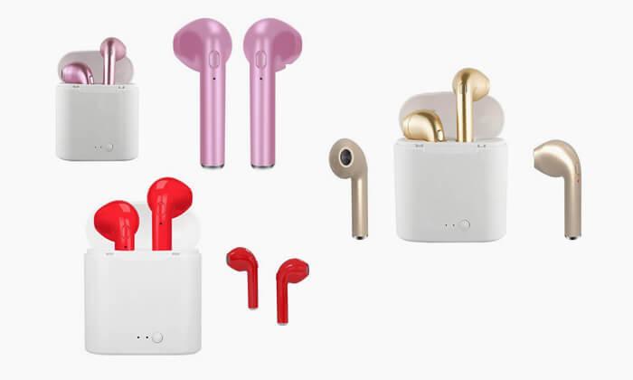 2 אוזניות Bluetooth אלחוטיות לאימון גופני