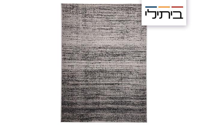 2 ביתילי: שטיח אקווארל בגווני אפור-כסוף, משלוח חינם