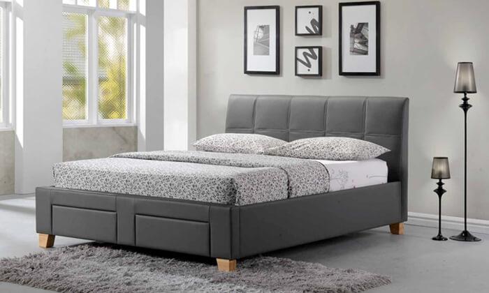 9 שמרת הזורע: מיטה זוגית מרופדת עם ארגז אחסון