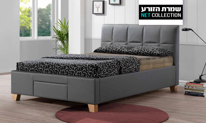 2 שמרת הזורע: מיטה זוגית מרופדת עם ארגז אחסון