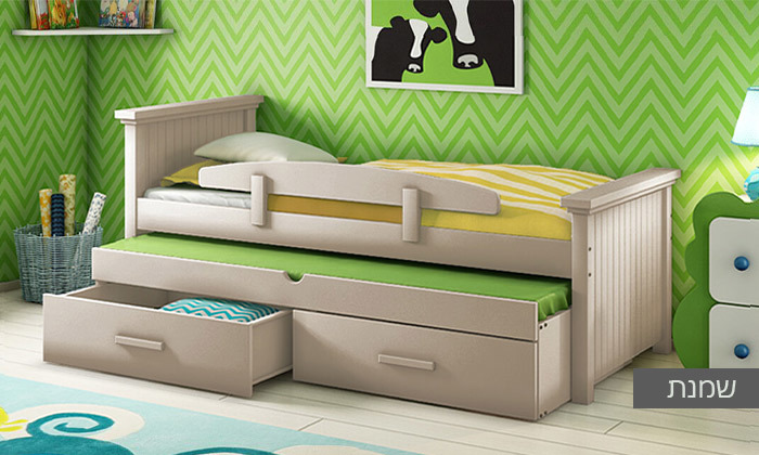 3 שמרת הזורע: מיטת ילדים עם מיטת חבר