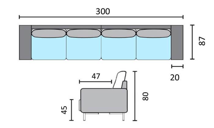 6 שמרת הזורע: ספת ארבעה מושבים