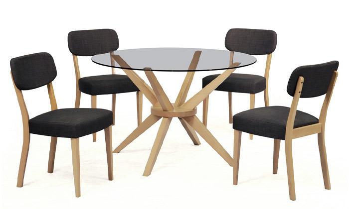 6 פינת אוכל עם שולחן לונה וכיסאות טוקיו של שמרת הזורע