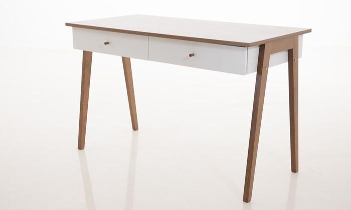 6 שולחן כתיבה עם זוג מגירות של שמרת הזורע, דגם שקד