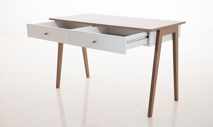 3 שולחן כתיבה עם זוג מגירות של שמרת הזורע, דגם שקד