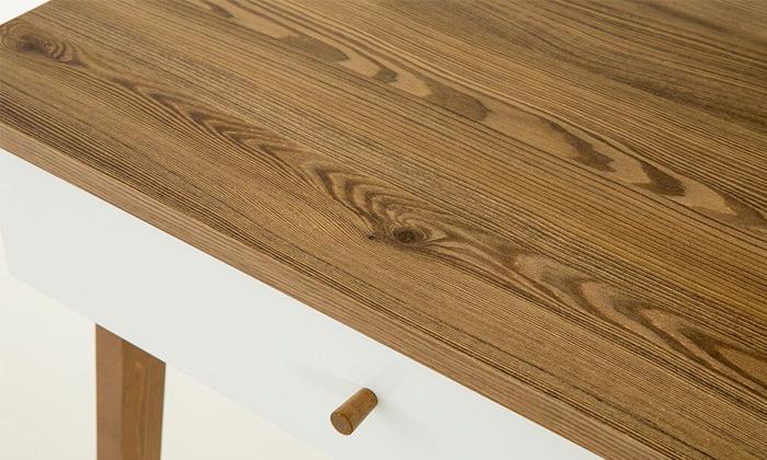 5 שולחן כתיבה עם זוג מגירות של שמרת הזורע, דגם שקד