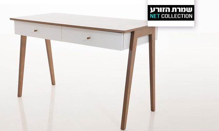 2 שולחן כתיבה עם זוג מגירות של שמרת הזורע, דגם שקד