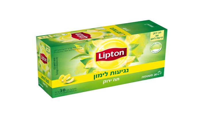 6 מארז תה ליפטון עם 8 חבילות תה ו-4 כוסות תה