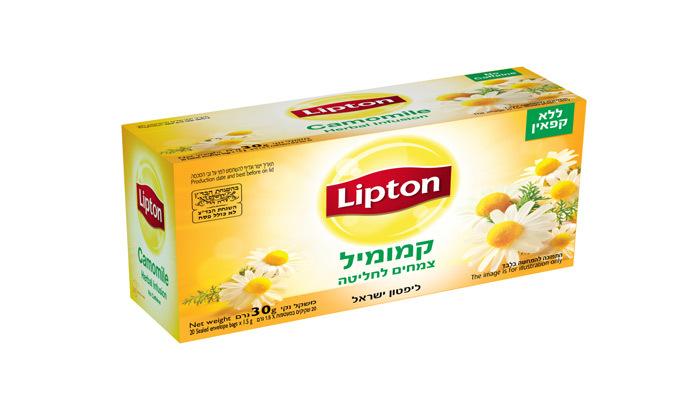 7 מארז תה ליפטון עם 8 חבילות תה ו-4 כוסות תה