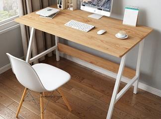 שולחן כתיבה עץ בשילוב מתכת