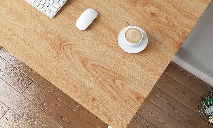 3 שולחן כתיבה מעץ בשילוב מתכת - משלוח חינם