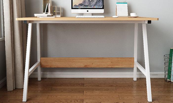4 שולחן כתיבה מעץ בשילוב מתכת - משלוח חינם