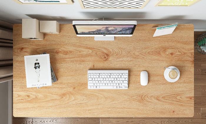 7 שולחן כתיבה מעץ בשילוב מתכת - משלוח חינם