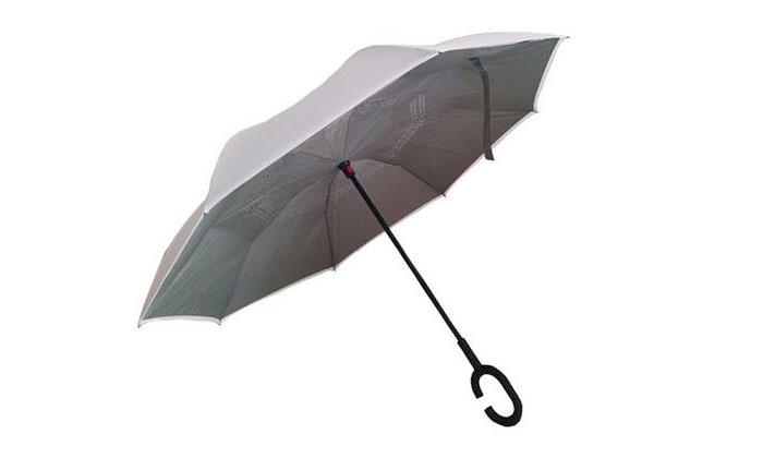 4 שתי מטריות עם סגירה הפוכה
