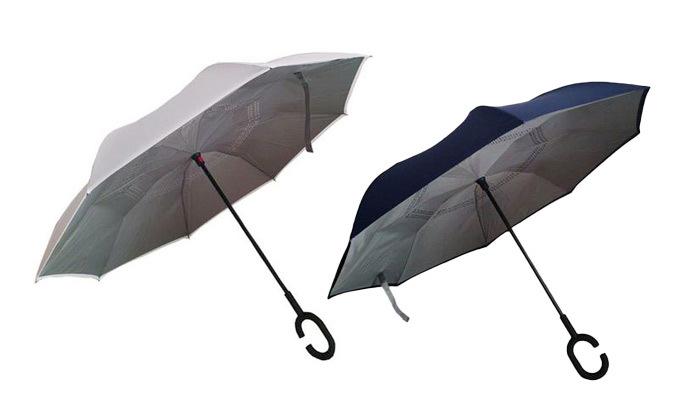 2 שתי מטריות עם סגירה הפוכה