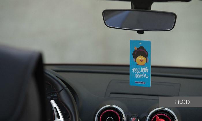 6 15 עצי ריח לרכב Mentos במבחר דגמים וריחות - משלוח חינם