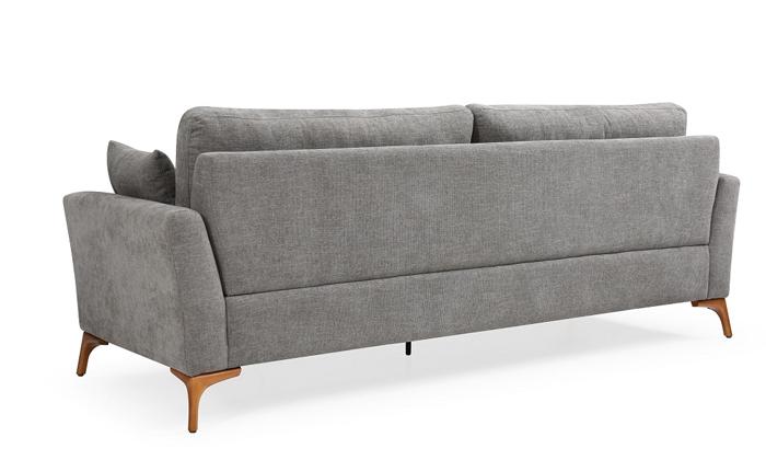 4 ספה תלת מושבית אפורה