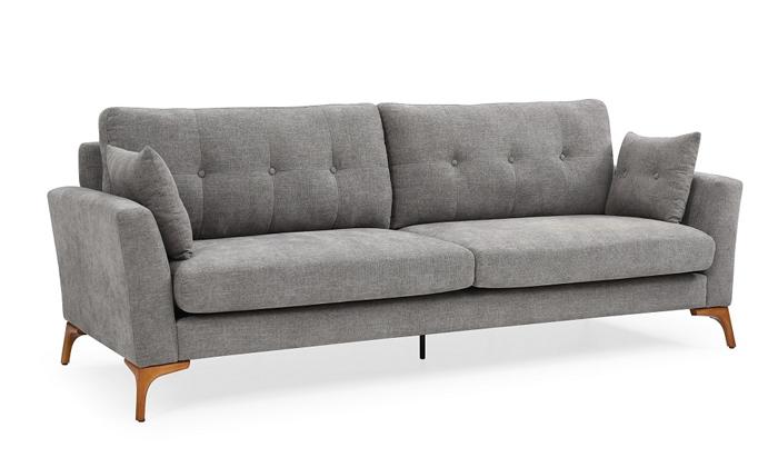 5 ספה תלת מושבית אפורה