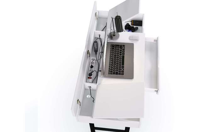 3 שולחן מחשב דגם Multidesk במבחר צבעים
