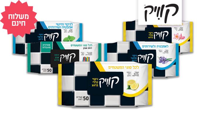 2 18 חבילות מטליות קוויק לחיטוי משטחים - משלוח חינם