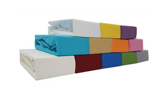 3 מצעי טריקו ג'רסי 100% כותנה בצבעים ומידות לבחירה
