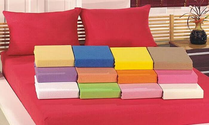 7 מצעי טריקו ג'רסי 100% כותנה בצבעים ומידות לבחירה
