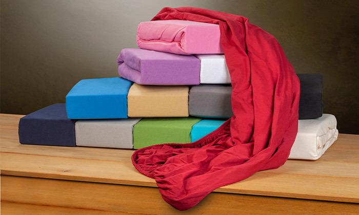 6 מצעי טריקו ג'רסי 100% כותנה בצבעים ומידות לבחירה