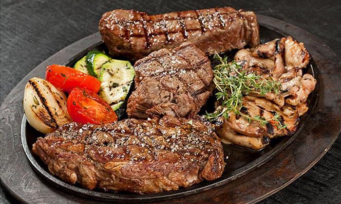 4 ארוחת בשרים זוגית עם יין וקינוח במסעדת פאפאגאיו, הרצליה