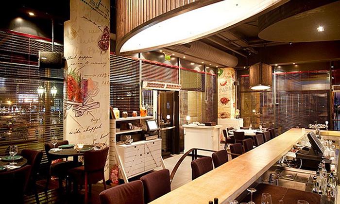 7 ארוחת בשרים זוגית עם יין וקינוח במסעדת פאפאגאיו, הרצליה