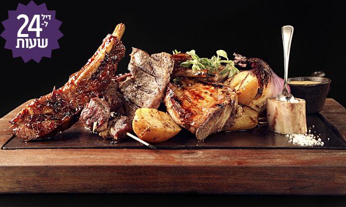 2 דיל ל-24 שעות: ארוחת בשרים זוגית עם יין וקינוח במסעדת פאפאגאיו, הרצליה