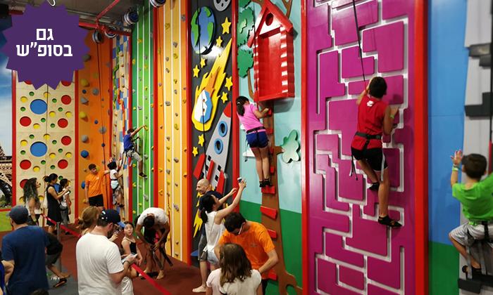 3 כניסה למתחם הטרמפולינות Sky Jump הממוזג, תל אביב