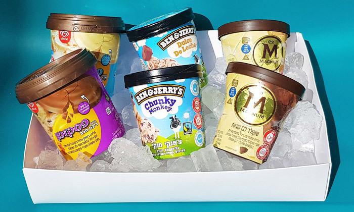 7 מארזי גלידות לבחירה - משלוח עד הבית למגוון ערים בין נתניה לאשדוד