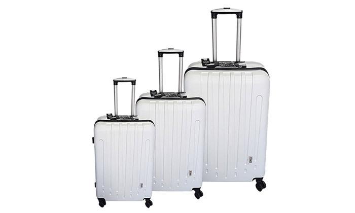 3 3 מזוודות POLO SWISS קשיחות