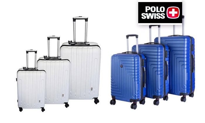 2 3 מזוודות POLO SWISS קשיחות