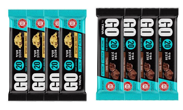 2 24 חטיפי חלבון תנובה GO - טעמים לבחירה